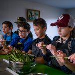 """""""A key element to Indigenous food security is to reclaim our traditions and to go back into the land and harvest deer, moose or to go into the river to fish. That plays a huge role in reconciliation and gaining back our culture."""" - Erica Ward, Nataoganeg Food Centre Program Coordinator"""