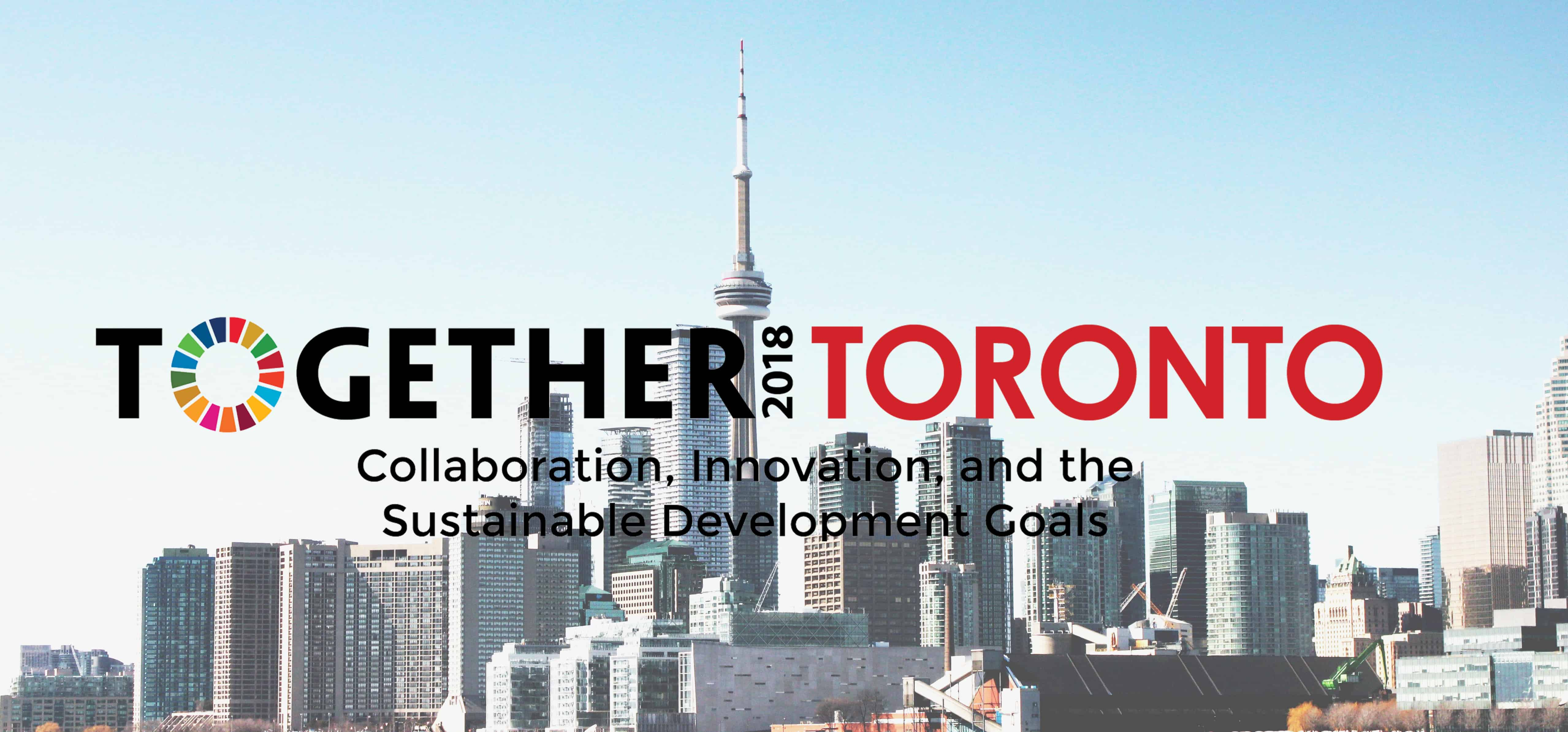 Together2018 banner with Toronto skyline