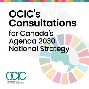 Consultations for Canada's Agenda 2030 National Strategy