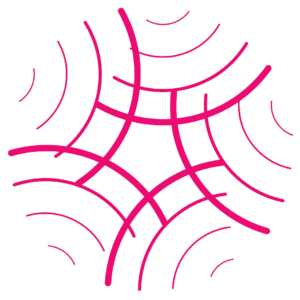 Pink circle icon on strengthen capacity