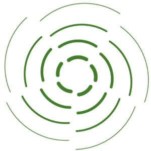 Green circle icon on influence and inspire