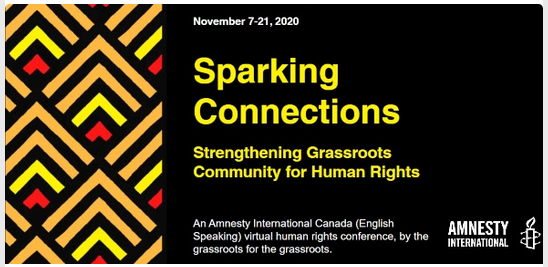 Amnesty International Canada (English Speaking Section) event banner