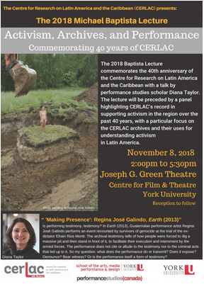 Center for Research on Latin America and the Caribbean (CERLAC) event banner