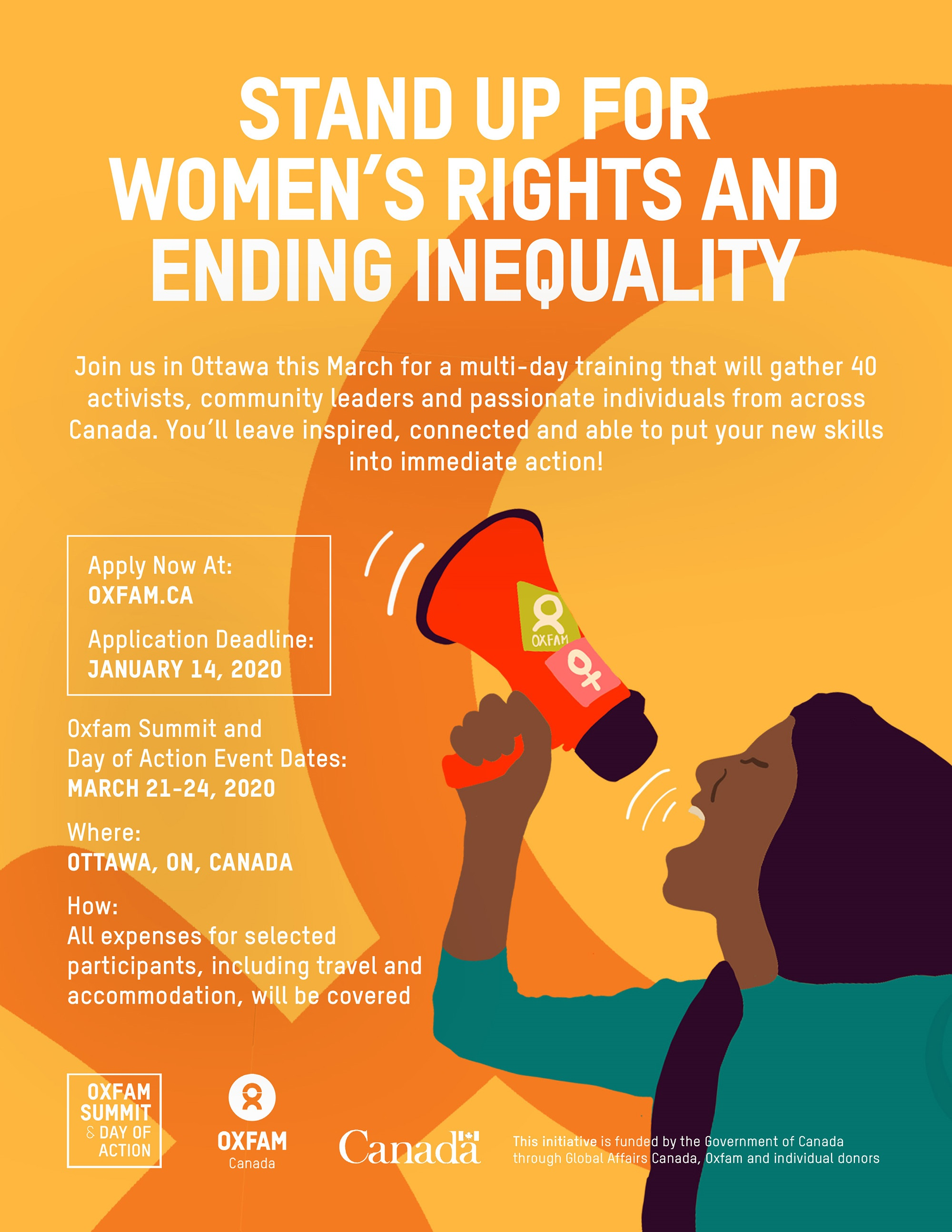 Oxfam Canada event banner