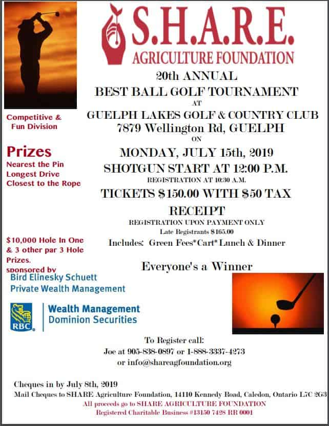 S.H.A.R.E. Agriculture Foundation event banner