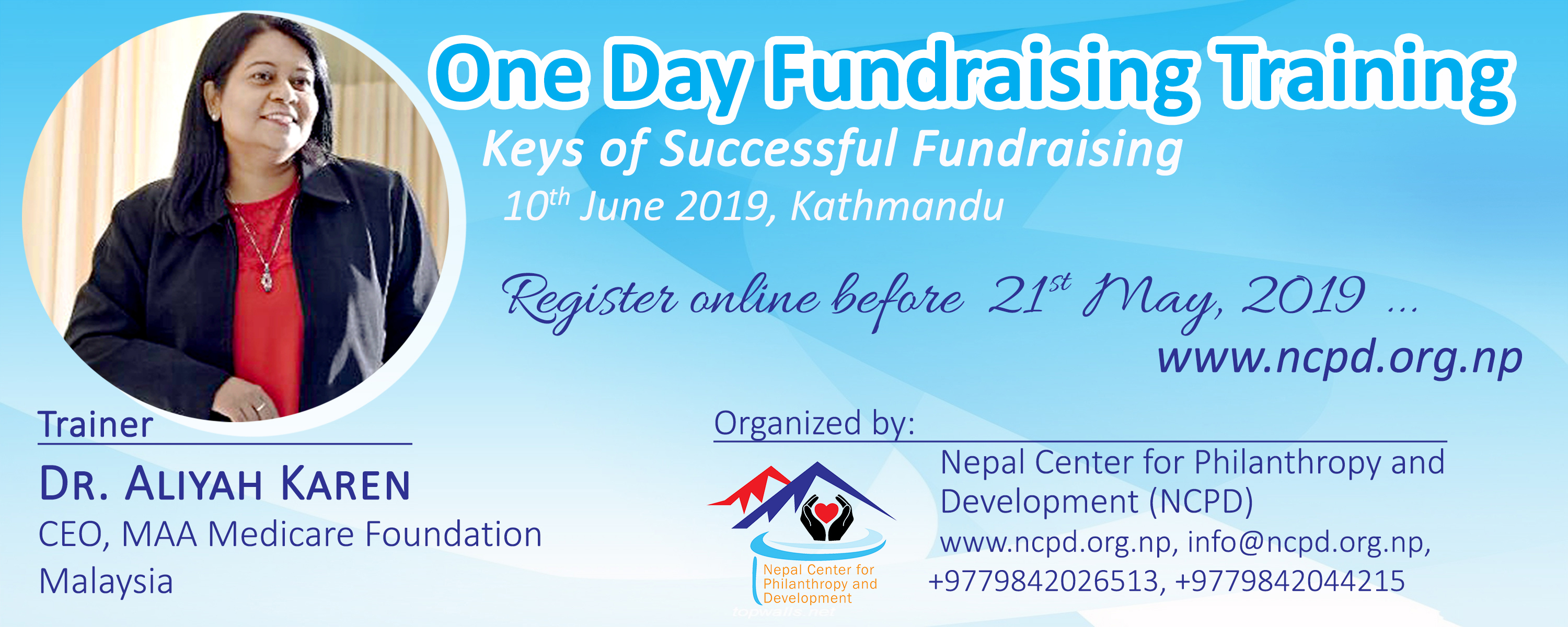 Nepal Center for Philanthropy and Development event banner