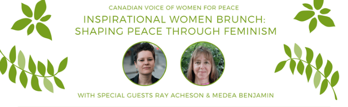 Canadian Voice of Women for Peace event banner