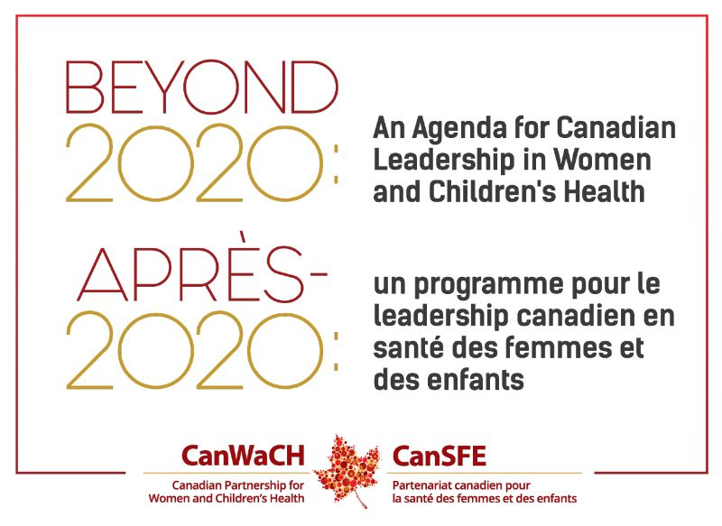 Canadian Partnership for Women and Children's Health (CanWaCH) event banner