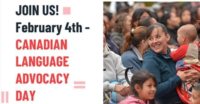 Canadian Language Advocacy Day event banner