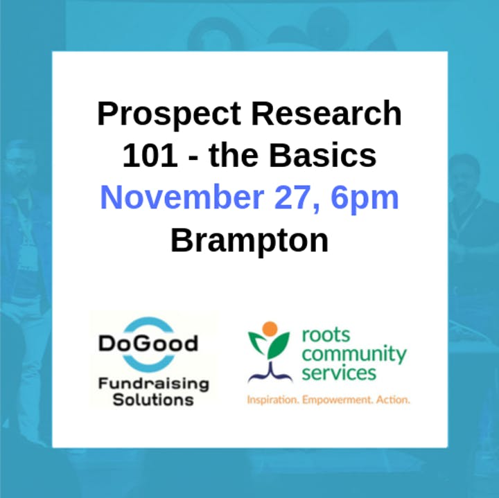 DoGood Fundraising Solutions event banner
